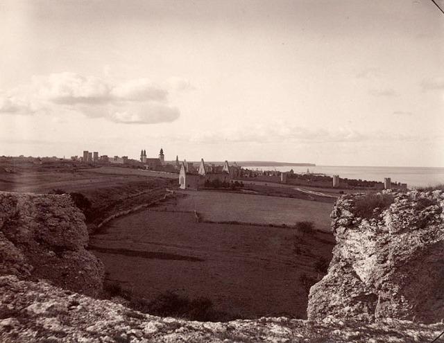 Visby sett från norr. Foto av Carl Curman, 1890-tal.